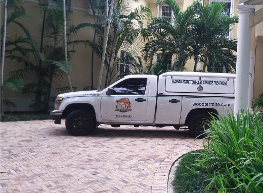Termite Treatment Service Truck for Real Estate Agents Florida State Tentless Termite Treatment
