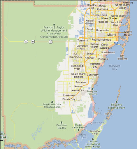 Miami-Dade county service area for Florida State Tentless Termite Treatment