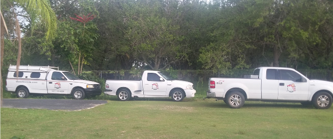 Termite Treatment Service Trucks for Florida State Tentless Termite Treatments